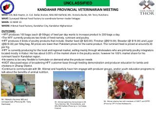 Kandahar Provincial veterinarian meeting