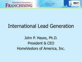 International Lead Generation