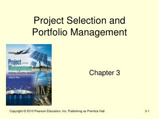 Project Selection and  Portfolio Management