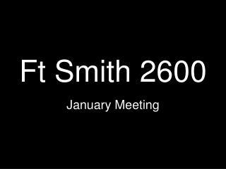 Ft Smith 2600