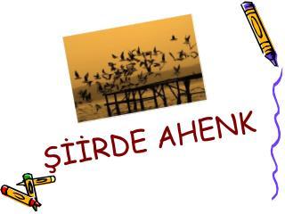 ???RDE AHENK