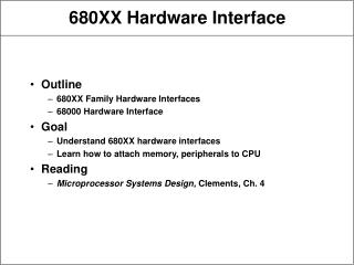680XX Hardware Interface