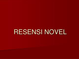 RESENSI NOVEL
