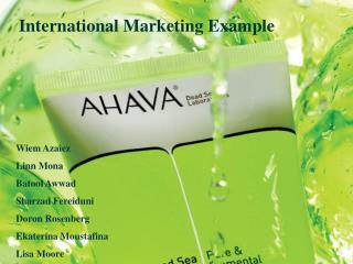 International Marketing Example