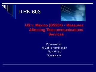 ITRN 603