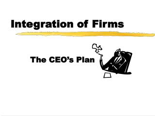 Integration of Firms