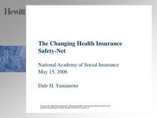 The Changing Health Insurance Safety-Net