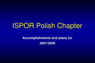 ISPOR Polish Chapter