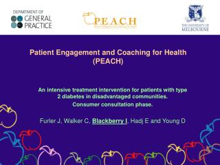 Patient Engagement and Coaching for Health (PEACH)
