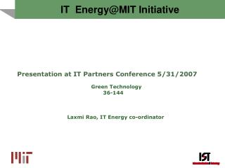 IT  Energy@MIT Initiative