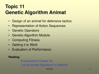 Topic 11 Genetic Algorithm Animat