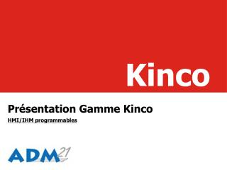 Présentation Gamme Kinco HMI/IHM programmables