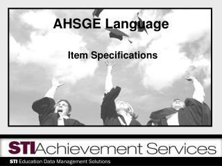 AHSGE Language