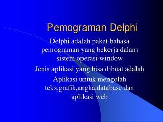 Pemograman Delphi
