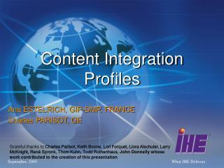Content Integration Profiles