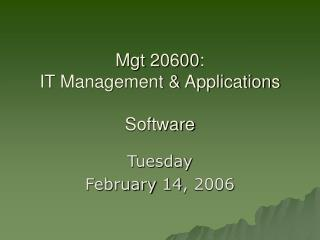 Technology: Operating System Software