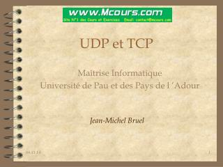 UDP et TCP