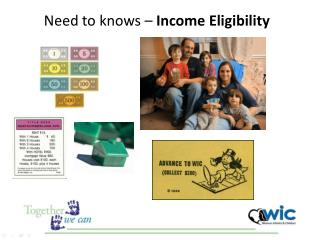 Need to knows –  Income Eligibility