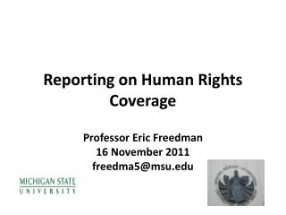 Reporting on Human  Rights Coverage