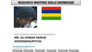 Mr.  ALI  AHMAD HAMUD HOSSEN(MAURITIUS)