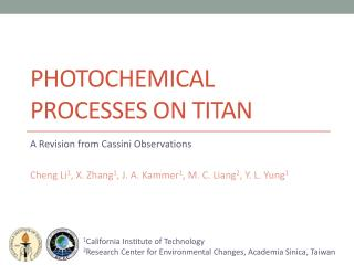 Photochemical processes on Titan