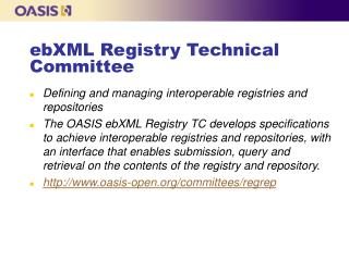 ebXML Registry Technical Committee