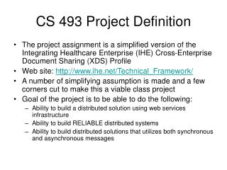 CS 493 Project Definition