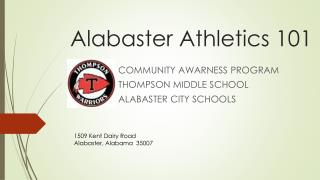 Alabaster Athletics 101