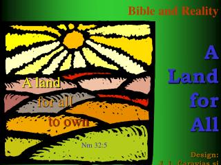 Bible and Reality   A  Land  for  All Design: J. L. Caravias sj