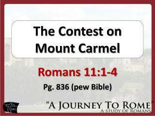 The Contest on Mount Carmel