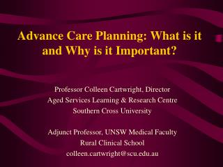 Advance Care Planning: What is it and Why is it Important?