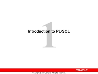 Introduction to PL