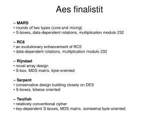 Aes finalistit