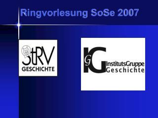 Ringvorlesung SoSe 2007