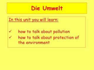 Die Umwelt