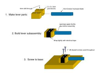 1.  Make lever parts:
