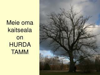 Meie oma kaitseala  on  HURDA TAMM