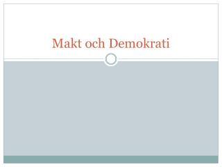 Makt och Demokrati