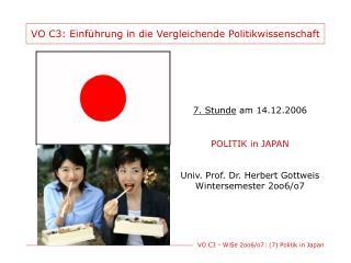 VO C3: Einführung in die Vergleichende Politikwissenschaft