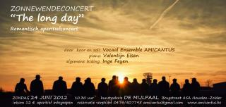 "ZONNEWENDECONCERT ""The long day""     Romantisch aperitiefconcert"