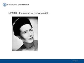 MORIA: Feministisk historiekritik