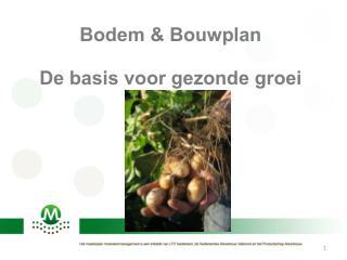 Bodem & Bouwplan De basis voor gezonde groei