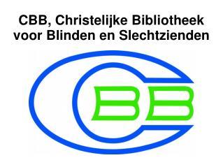 CBB, Christelijke Bibliotheek voor Blinden en Slechtzienden