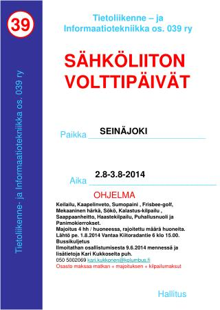 Tietoliikenne – ja Informaatiotekniikka os. 039 ry