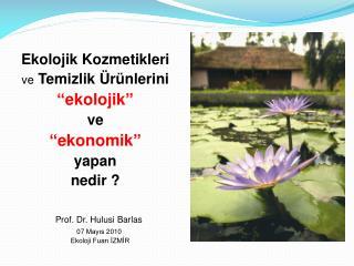 """Ekolojik Kozmetikleri ve  Temizlik Ürünlerini """"ekolojik""""   ve   """"ekonomik"""" yapan  nedir ?"""