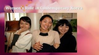 Women's Role in Contemporary Korea