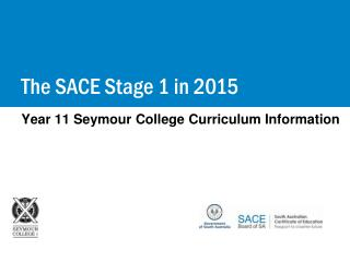 Year 11 Seymour College Curriculum Information