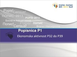 Ekonomska aktivnost P32 do P39