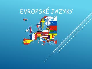 Evropské jazyky