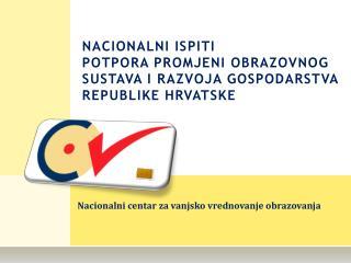 Nacionalni centar za vanjsko vrednovanje obrazovanja